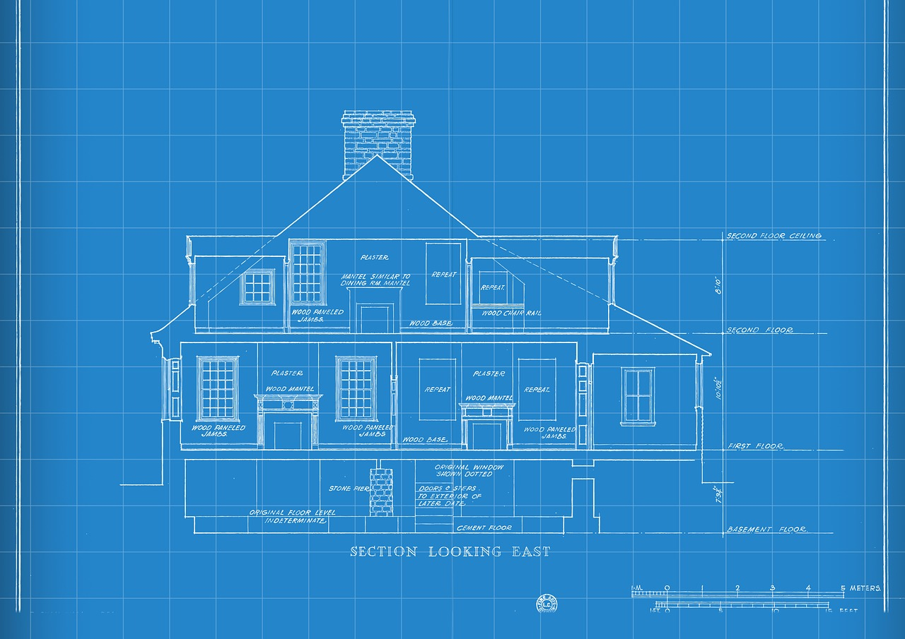 Technology Blueprint House Drawing  - Michael_Hiraeth / Pixabay
